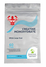 Natural Creatine Monohydrate 1000 mg Mens Food Supplement 30/60/90/120/180 Tabs