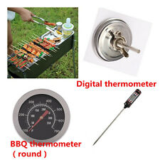 Barbecue BBQ Grill Thermometer Temp Gauge Outdoor Camping Cook Food Tool NEW I5