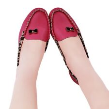 Autumn Woman Shoes Flats Heel Leopard Bordered Comfortable Soft Leather