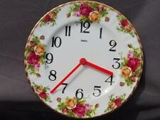 Royal Albert Old Country Roses Wall Plate Clock. In Excellent Condition