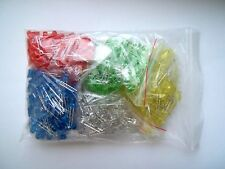5mm LED'S Pack OF 500 100x Each of Red, Blue, Green, Yellow, White UK Seller