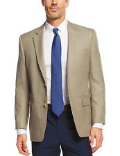 NWT MICHAEL KORS Tan Houndstooth Two-Button Blazer Jacket Sportcoat 38R 44S $295