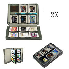 2X game case for Nintendo 3DS DS 28 in 1 card holder storage travel box black