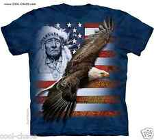 True Spirit of America Native American Elder USA Eagle T-Shirt / Tie Dye Art Tee