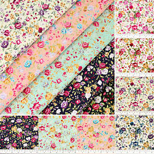 100% Cotton Fabric by FQ Wild Flower Bouquet Shabby Vintage Retro Chic Quilt VR8