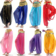 Belly Dance Harem Pants Tribal Costume Shinny Sequin Balloon Bloomers trousers