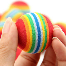 3/6/9pcs Colorful Pet Cat Dog Kitten Soft Foam Rainbow Play Balls Activities Toy