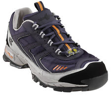 Nautilus Womens Steel Toe Athletic M Blue Leather Shoes