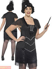 Ladies Curves Flapper Costume Adult Charleston Fancy Dress Plus Size 20s Gatsby