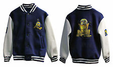 MINIONS DESPICABLE ME KIDS BASEBALL JACKET COAT CHILDRENS SIZES AGE 2 - 9 YEARS