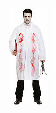 Mens Bloody Doctor Adult Halloween Costume Zombie Doctor Fancy Dress Outfit
