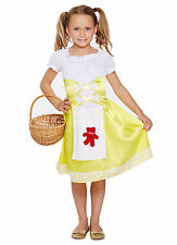 Kids Goldilocks Porridge Girl Childrens Fancy Dress Costume Book Week Outfit
