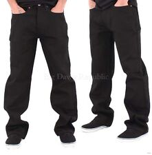 Rocawear Mens Boys Black Double R Star Loose Fit Jeans Is Money G Hip Hop Time