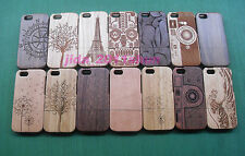 Fashion Carved Design Genuine Wood Wooden Bamboo Case Cover for Apple iPhone 5C