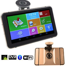 "HD 7"" Inch Android 4.4.2 Car Navigation GPS 512MB 8GB w/ Front Camera+Free Maps"