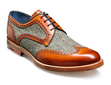 Handmade Two Tone Leather Shoes Wingtip Oxford Brogues Dress Formal Shoes