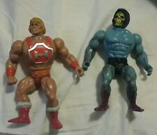 Vintage He-man MOTU Thunder Punch He man / Skelator Action Figures 1984 Used