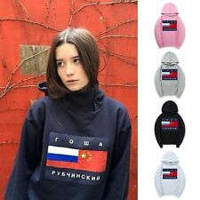 Thrasher Hoodie Russia China Flag Sweaters Hip Hop Pullover Skater Men Women