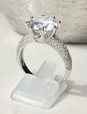 Engagement Cubic Zirconia Ring 925 Solid Sterling Silver Bridal ReallySparkles