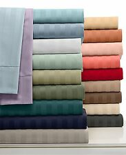 All Striped Colors Duvet Set+Fitted Sheet 1000 TC Egyptian Cotton Cal-King Size