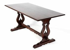 Oak Dining Table OLD CHARM Refectory Dining Table Trestle English