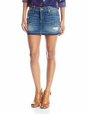 True Religion Women's Alexia High Thigh Denim Mini Skirt in Vintage - $199