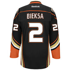 Kevin Bieksa Anaheim Ducks Reebok Premier Replica Home NHL Hockey Jersey