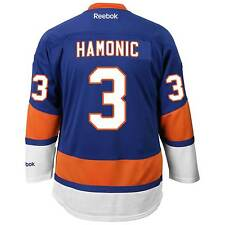 Travis Hamonic New York Islanders Reebok Premier Replica Home NHL Hockey Jersey