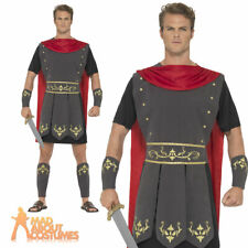 Adults Roman Warrior Costume Mens Centurion Gladiator Fancy Dress Womens Outfit