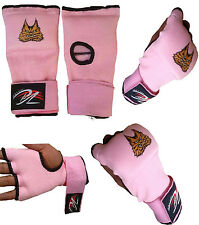 BZ Ladies Gel Inner Hand Wraps Gloves Boxing Fist Pink Bandages MMA Women Gym
