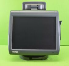 Micros Workstation 5A Terminal Touch POS System with Stand & Rear Display Mi7