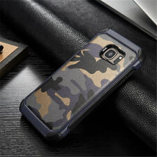 BLUE Camouflage iPhone 5 6 7 8 Samsung S7 S8 Note Military Case Camo + GLASS