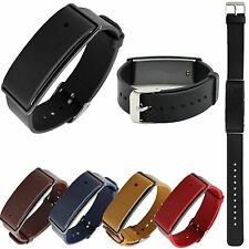 Genuine Leather Wrist Strap Classic Metal Buckle For Huawei Honor Band A1 Watch