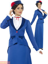 Ladies Victorian Nanny Costume Adults Fancy Dress Mary Book Week Day Teacher