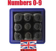 0-9  Numbers Stamps Set Punch Steel  HAND Metal Craft Tool DieWatch Marker wood