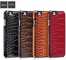 For iphone 6 6s Plus Genuine Leather Slim Back Case Cover Hoco Crocodile Series