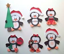 3D - U Pick - XM17 Penguin Santa Winter Christmas  Card Scrapbook Embellishment