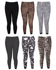 Womens Plus Size Lace trim Cropped Printed Legging Pants 12-26