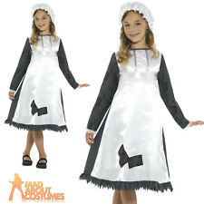 Child Victorian Maid Costume Poor Girl Book Day Fancy Dress Outfit
