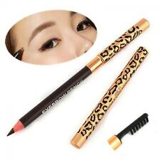 Women Waterproof Brush Eyebrow Pencil Leopard Eyeliner Makeup