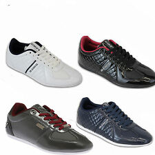 Mens Trainers Voi Jeans Shoes Carlo Lace Up Quilted Smart Running Designer New