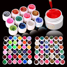 12/24/36 Manicure Mix Color Pure UV Gel Builder Polish Tips Acrylic Nail Art Set