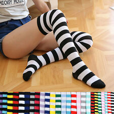 Striped Knee High Socks for Girls Sweet Thigh High Socks Spring&Summer 13 Colors