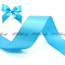Turquoise Double Sided Satin Ribbon 3mm 6mm 10mm 16mm 22mm 28mm 50mm
