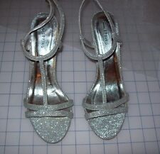 WOMENS Call It Spring Glayria High Heel SILVER Sandals USED AS DISPLAY IN STORE