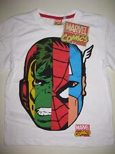 Boys official Marvel Comics Avengers t-shirt top age 7-8 new with tag