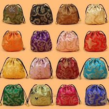 Wholesale Chinese Handmade Silk Bag Coin Purse Gift Jewelry Bags Pouches Free