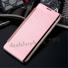 New Luxury Flip Mirror Metal Glossy View Case Cover For iphone Models