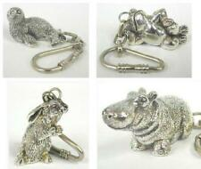 Silver Animal Key Chains |  925 Sterling Silver Animal Collectibles Key Rings