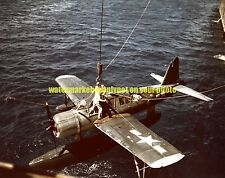 USN VOUGHT OS2U KINGFISHER Aircraft Photo Military Color Navy WW2